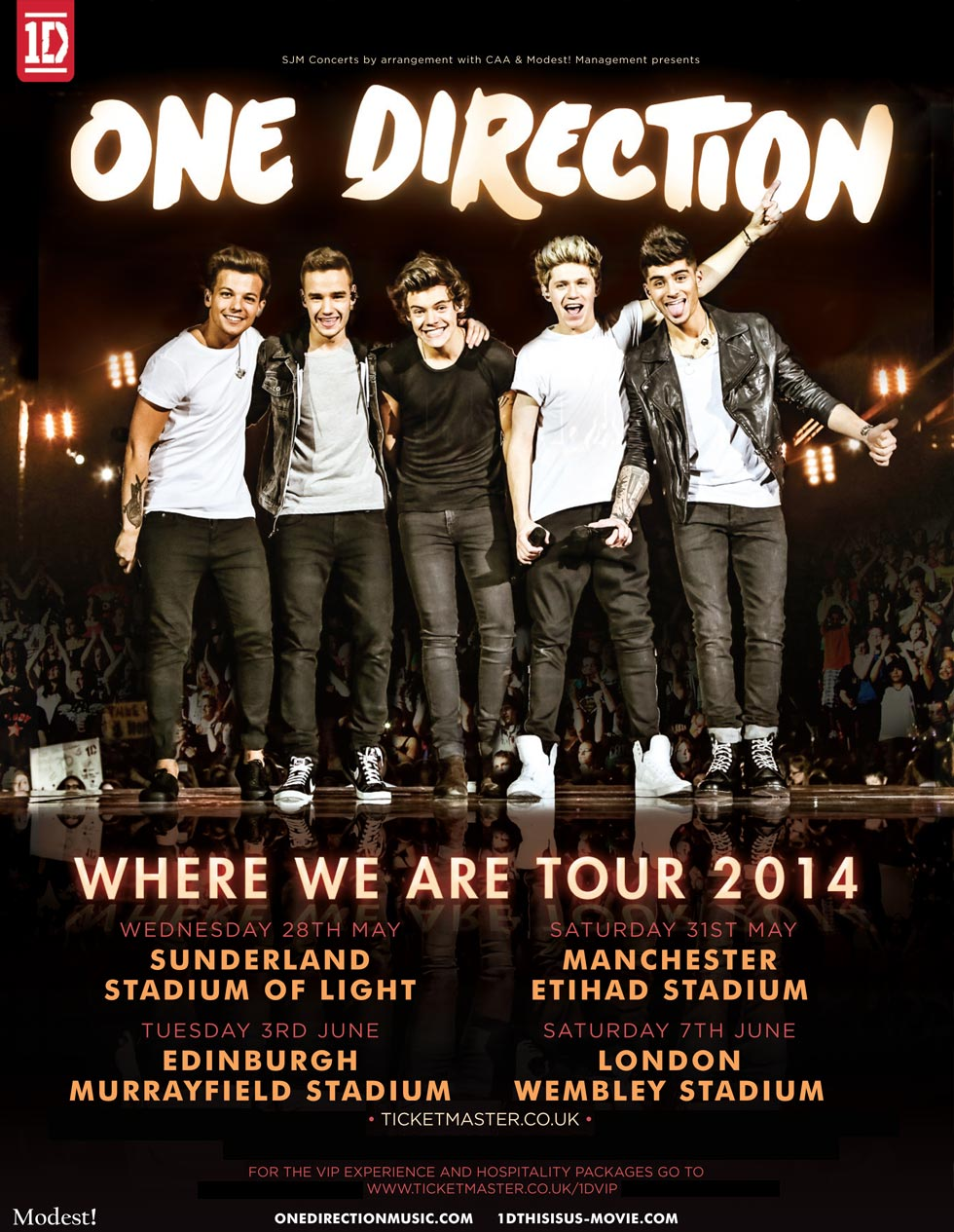 Where We Are 2014 World Stadium Tour