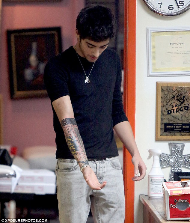 Liam Tattoo One Direction Fan Club Welcome To The One